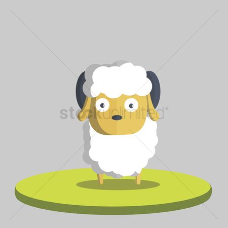 动物 : Illustration of a sheep