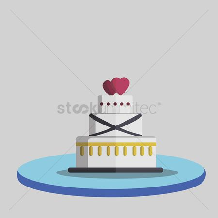 庆典 : Illustration of a wedding cake