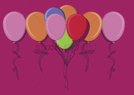 庆典 : Illustration of balloons