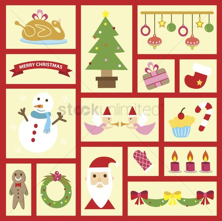 庆典 : Illustration of christmas icons