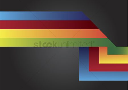 色带 : Illustration of colorful stripes design