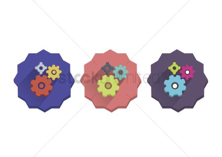 技术 : Illustration set of gears