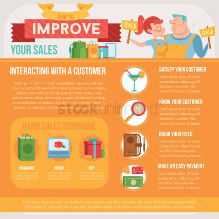 横幅 : Improve your sales infographic