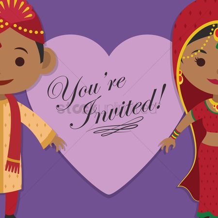 请帖 : Indian wedding invitation