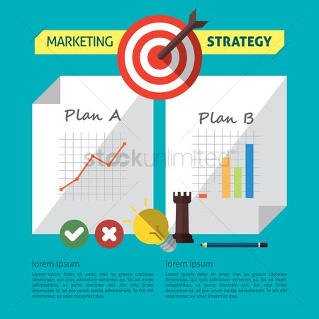 信息图表 : Infographic of marketing strategy