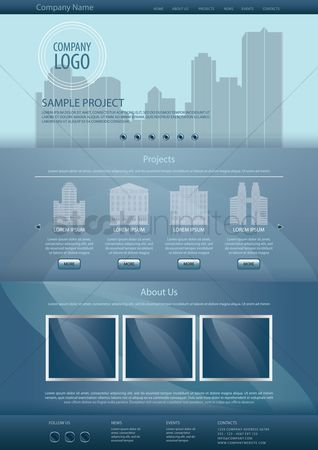 消息 : Infographic template design