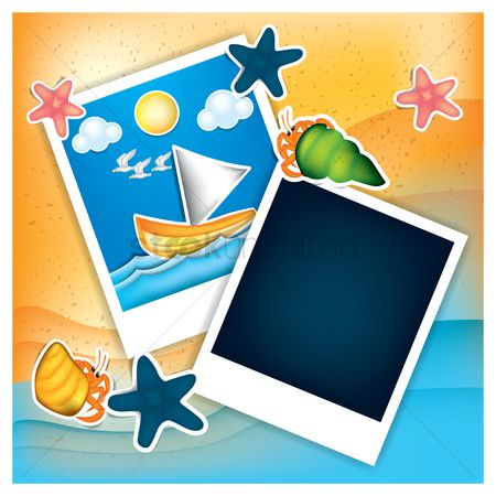 动物 : Instant photos with beach theme
