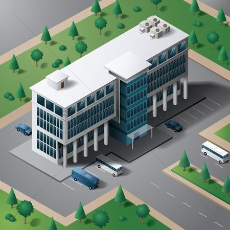 摘要 : Isometric building