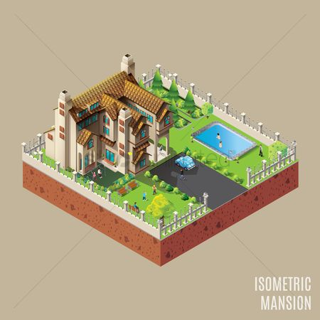运输 : Isometric mansion