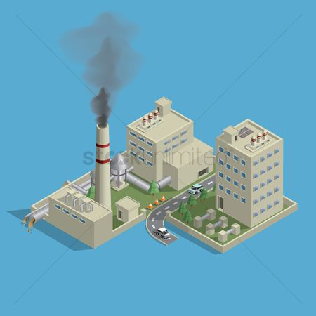 汽车 : Isometric of factory