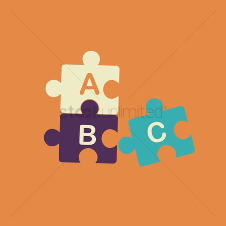 学校 : Jigsaw puzzle with alphabets