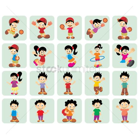 搜藏 : Kids icon set