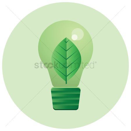 环境 : Leaf inside a light bulb