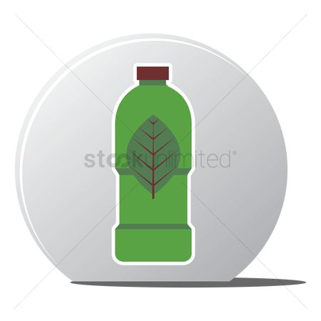 环境 : Leaf on a bottle