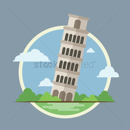 房屋地标 : Leaning tower of pisa