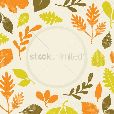 花 : Leaves design