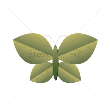 动物 : Leaves shaped into a butterfly