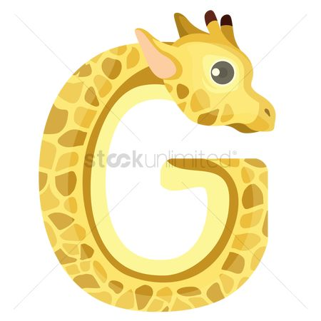 漫画 : Letter g for giraffe