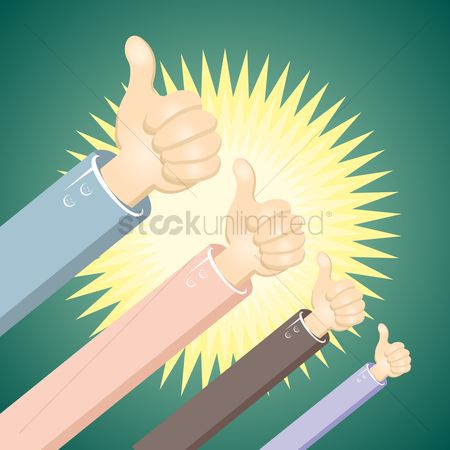 动机 : Man hands showing thumbs up sign