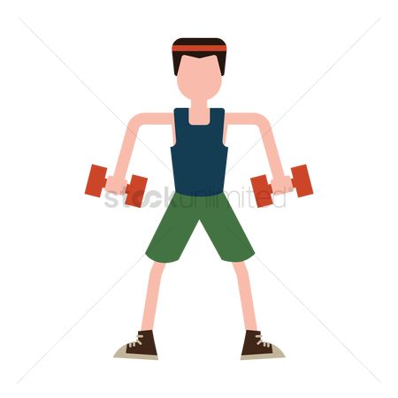 运动员 : Man holding dumbbells