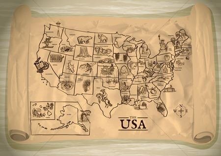 向量 : Map of usa
