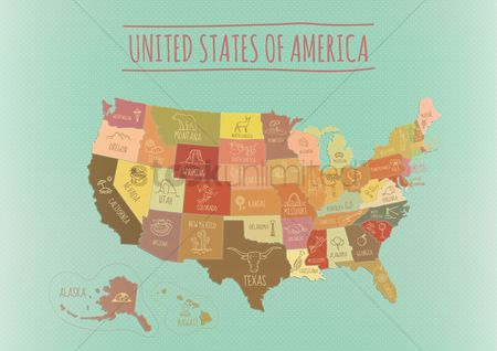 动物 : Map of usa