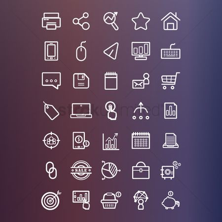 业务 : Marketing icons collection