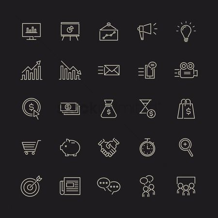 图标 : Marketing icons set