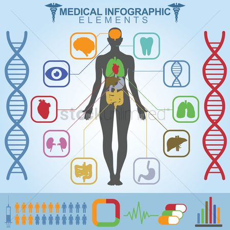 图标 : Medical infographic elements