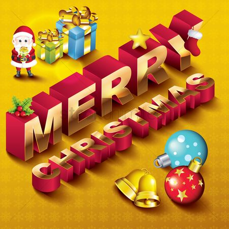 庆典 : Merry christmas design