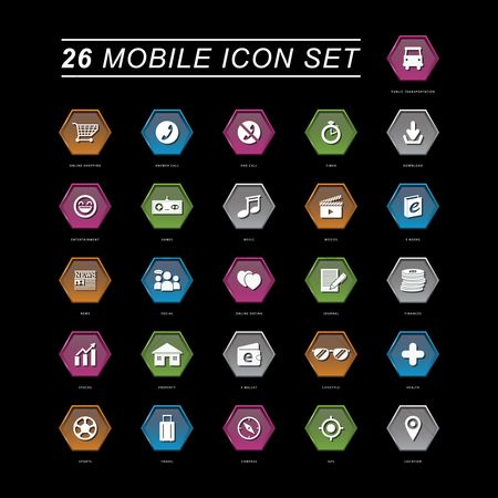 消息 : Mobile icon set