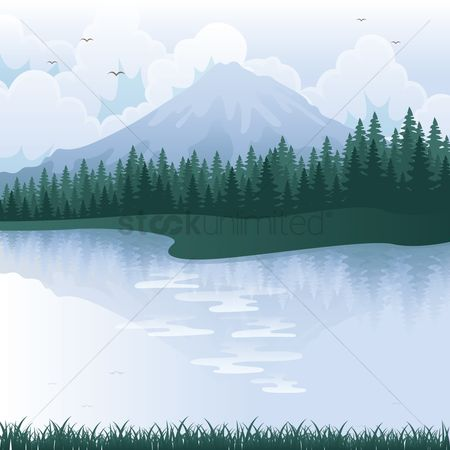 水 : Mountain landscape
