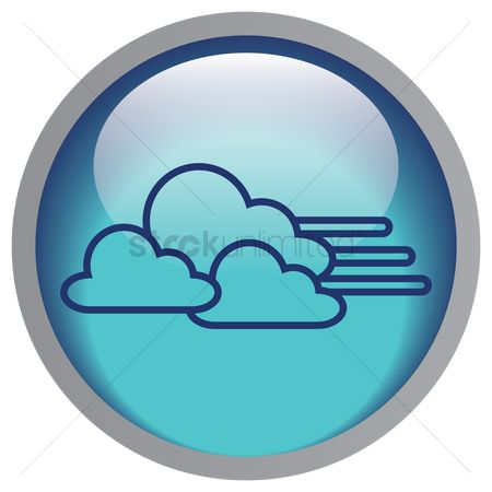 运动 : Moving cloud icon