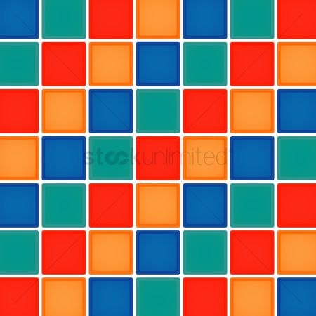 平方 : Multicolor checkered background