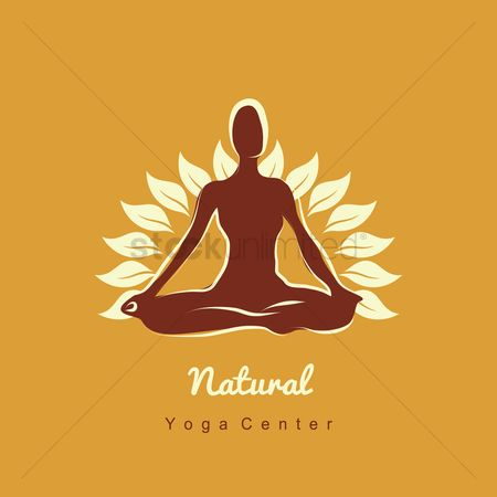 标志 : Nature yoga icon