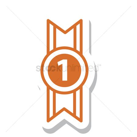 标签 : Number one badge