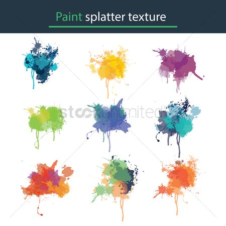 搜藏 : Paint splatter texture collection