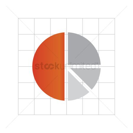 业务金融 : Pie chart on graph paper