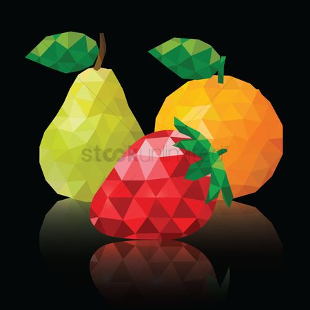 花色 : Polygon fruits wallpaper