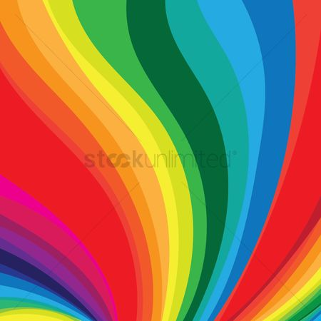 花色 : Rainbow flow background