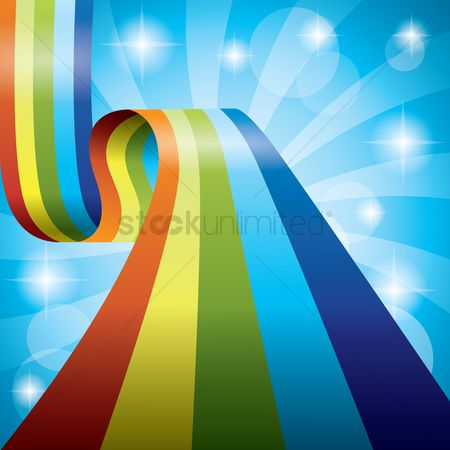 抽象化 : Rainbow ribbon background