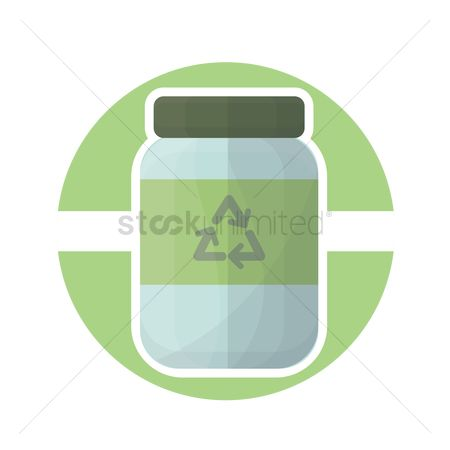 环境 : Recycled bottle icon