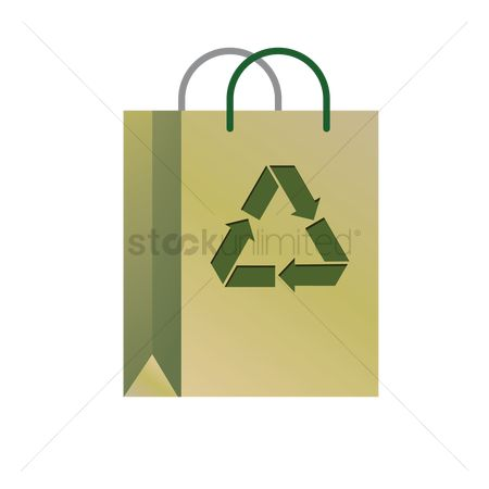 环境 : Recycling bag icon