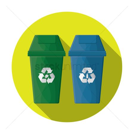 垃圾 : Recycling bins