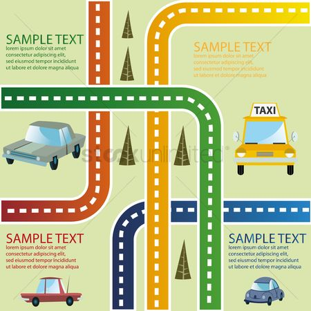 向量 : Road traffic infographic