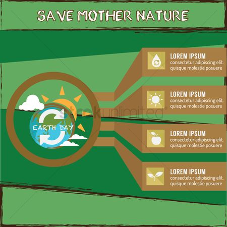 水 : Save mother nature infographic