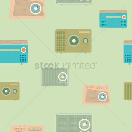 消息 : Seamless pattern of portable radio