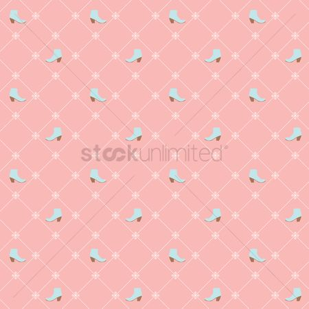 插图剪贴画 : Seamless shoe pattern over pink background