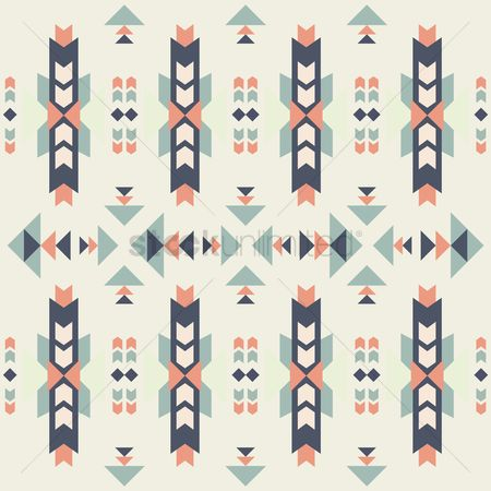 面料 : Seamless tribal pattern