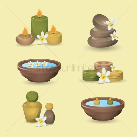花 : Set of a massage icons
